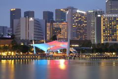 SINGAPORE - APRIL 10, 2016: Esplanade - Theatres on the Bay is a Stock Image