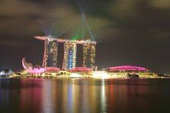SINGAPORE - APRIL 10,2016: Horisont för fjärdsand på Singapore Royaltyfri Fotografi