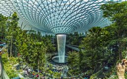 Singapore - April 20, 2019 : Jewel Changi Aiport connecting to Terminal 1 Arrival and Terminal 2,3 through linked. Singapore,Singapore - April 20, 2019 : Jewel stock photos