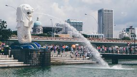 The Merlion Statue stock images