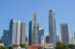 Singapore, aprile 2017: Il distretto finanziario centrale di Singapore Fotografia Stock