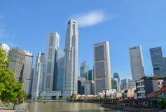 Singapore, aprile 2017: Il distretto finanziario centrale di Singapore Immagine Stock