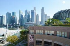 Singapore, aprile 2017: Il distretto finanziario centrale di Singapore Immagini Stock Libere da Diritti