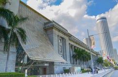 Singapore, aprile 2017: Il distretto finanziario centrale di Singapore Fotografia Stock Libera da Diritti