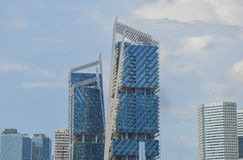 Singapore, aprile 2017: Il distretto finanziario centrale di Singapore Fotografie Stock