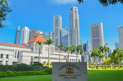 Singapore, aprile 2017: SINGAPORE, aprile 2017: Il Parlamento di Singapore Fotografia Stock Libera da Diritti