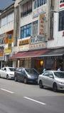 SINGAPORE - 2 aprile 2015: Scena della via nel ` s Chinatown di Singapore Fotografia Stock