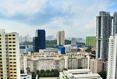 Singapore architecture Royalty Free Stock Photography