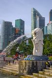 Merlion Park is a Singapore landmark and major tourist attraction, Singapore royalty free stock images