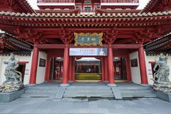 The Buddha Tooth Relic Temple in Chinatown, Singapore Royalty Free Stock Images