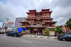 The Buddha Tooth Relic Temple in Chinatown, Singapore Stock Image