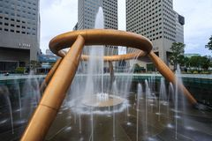 The Fountain of Wealth, it is the famous place in Suntec City, S Stock Image