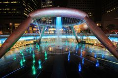 Light show at the Fountain of Wealth, it is the famous place in Stock Photography