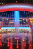 Light show at the Fountain of Wealth, it is the famous place in Royalty Free Stock Image