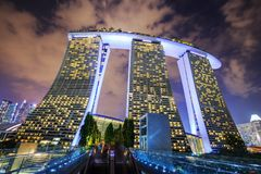 Night view at Marina Bay Sands Resort, Singapore Royalty Free Stock Images