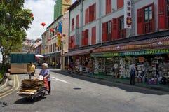 新加坡的唐人街 库存图片