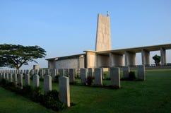 Kranji Commonwealth war memorial monument and gravestones Singapore Royalty Free Stock Image