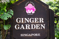 Singapore - AUGUST 2, 2014: Entrance to Ginger Royalty Free Stock Photos