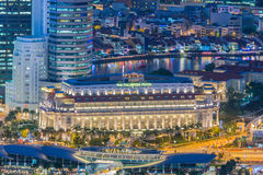 Singapore - AUGUST 5, 2014: Fullerton hotel on Royalty Free Stock Image