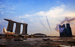 SINGAPORE - August 4 : Marina Bay Sands, World's most expensive Royalty Free Stock Image