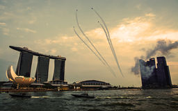 SINGAPORE - August 4 : Marina Bay Sands, World's most expensive Royalty Free Stock Photography