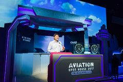 Minister Ng Chee Meng opening address at the Aviation Open House Stock Photography