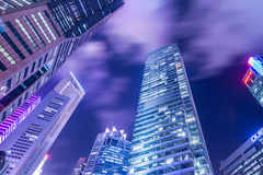 Singapore - AUGUST 4, 2014: Office buildings on Royalty Free Stock Image