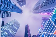 Singapore - AUGUST 4, 2014: Office buildings on Stock Photo