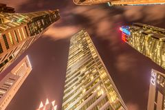 The singapore - august 4, 2014: office buildings Stock Images