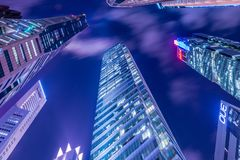 The singapore - august 4, 2014: office buildings Stock Photo