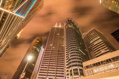 Singapore - AUGUST 4, 2014: Office buildings on Royalty Free Stock Images