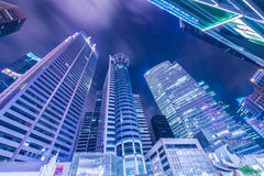 Singapore - AUGUST 4, 2014: Office buildings on Stock Photography