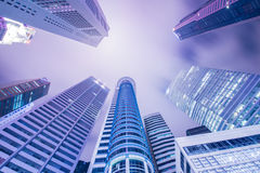 Singapore - AUGUST 4, 2014: Office buildings on Stock Image