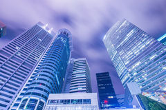 Singapore - AUGUST 4, 2014: Office buildings on Stock Images