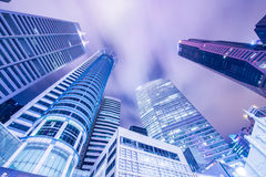 Singapore - AUGUST 4, 2014: Office buildings on Stock Photos