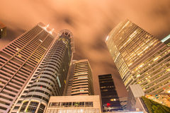 Singapore - AUGUST 4, 2014: Office buildings Stock Photo