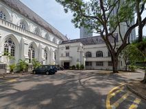 St Andrew`s Cathedral, Singapore. Singapore - August 20 2018: St Andrew`s Cathedral is an Anglican cathedral in Singapore, the country`s largest cathedral. It is royalty free stock images