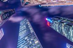 Singapore - AUGUSTI 4, 2014: Kontorsbyggnader på Arkivbilder