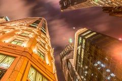 Singapore - AUGUSTI 4, 2014: Kontorsbyggnader på Arkivfoto