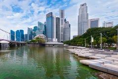 6,2016 Singapore-AUGUSTI: Orizzonte della città di Singapore Immagine Stock Libera da Diritti