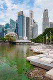 6,2016 Singapore-AUGUSTI: Orizzonte della città di Singapore Fotografia Stock