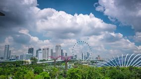 Singapore Bad weather Clouds Timelapse Wheel. 4k stock video