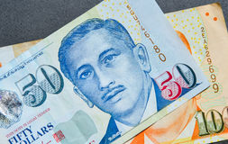 Singapore banknote dollar SGD. Portrait on Singapore banknotes SGD. Singapore has a highly developed and successful free-market economy Stock Photo