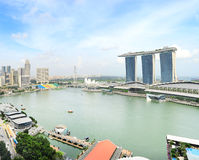 Singapore bay Royalty Free Stock Images