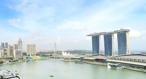 Singapore bay view Royalty Free Stock Photography