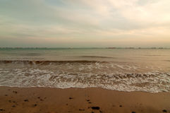Singapore,The beach and the ocean at sunset.Horizontal view. Royalty Free Stock Photography