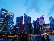 Singapore location beautiful building cool whether day scene romantic