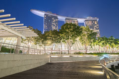 Singapore. The beauty of the city of Singapore at night Stock Photography