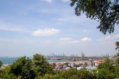 Singapore behållareterminal Arkivfoto