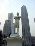 Singapore. In a big way. Monument to Singapore's city founder - Sir Thomas Stamford Bingley Raffles Stock Image